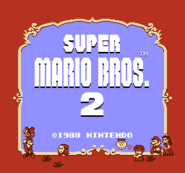 Title Screen (Super Mario Bros. 2)