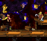 DKC2 Screenshot Squawks Schacht