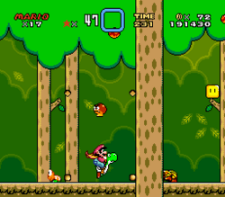 SMW Screenshot Wald der Illusion 1