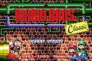 Title Screen - Mario Bros. (GBA)