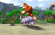 Donkey Riding Rambi - Spaceworld 2001 Tech Demo - Donkey Kong Racing