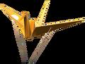MKT Origami grue dorée