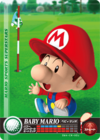 Carte amiibo Bébé Mario golf