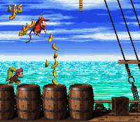 DKC2 Screenshot Piraten-Panik
