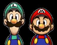 Caras de Mario y Luigi MLSS