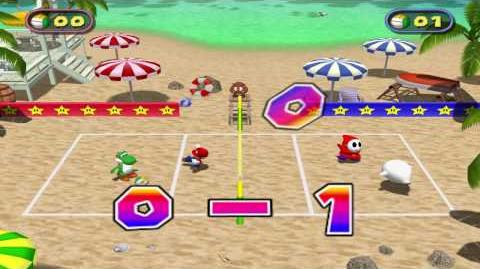 Mario Party 4 - Beach Volley Folley