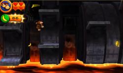 DKCR3D Screenshot Tosendes Vulkanrumoren