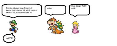 Luigi lässt Peach im Stich weil sie nicht von ihm getragen werden will