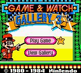 Écran-Titre Game & Watch Gallery