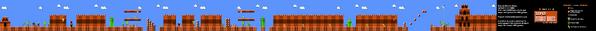 SMB World 8-3 NES level map