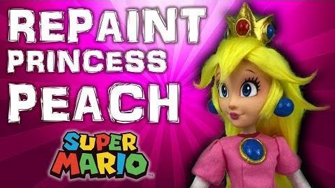Custom PRINCESS PEACH doll repaint TUTORIAL Super Mario