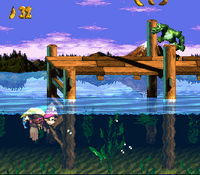DKC3 Screenshot Lago Limbo