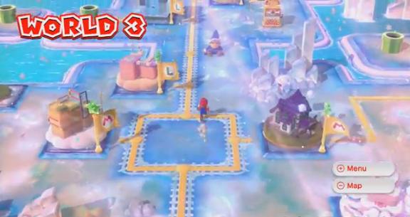 Mario 3 World Map.World 3 Super Mario 3d World Mariowiki Fandom Powered By Wikia