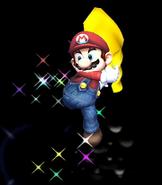 Mario usando Capa SSBB