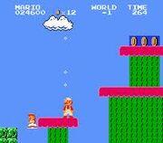 Mario en World -1 de Famicom
