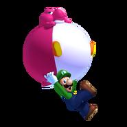 Luigi y Bebe Yoshi de globo