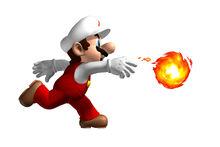 NSMB Artwork Feuer-Mario