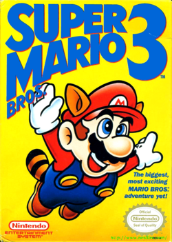 Super Mario Bros 3 - North American Boxart