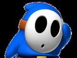Blauer Shy Guy