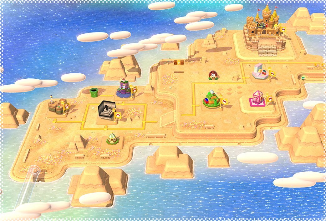 World 2 super mario 3d world mariowiki fandom powered by wikia sm3dwworld2 the map of world 2 game super mario gumiabroncs Gallery