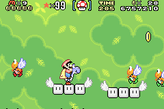 SMW Screenshot Wald-Rätsel