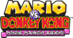 Mario Vs Donkey Kong Minis March Again logo