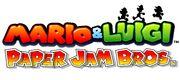 Mario&LuigiPaperJamBros Logo