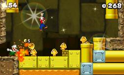 NSMB. 2 captura de pantalla Goomba de oro