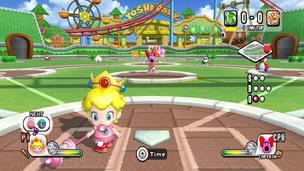 Bebe Peach en Mario Super Sluggers