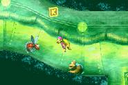 DKC3GBA Screenshot Laues Labyrinth