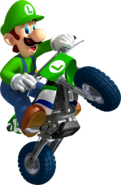 Luigi Artwork - Mario Kart Wii