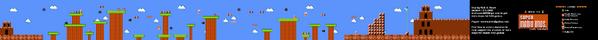 SMB World 5-3 NES level map