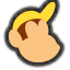 Icône Diddy Kong jaune foncé Ultimate