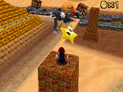 SM64DS Shifting Sand Land Star 1