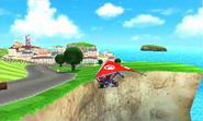 Mario gliding MK7