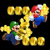 Mario y luigi en NSMB. 2