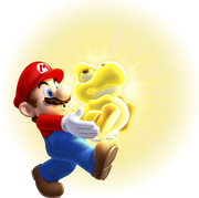 NSMBU Glowing Baby Yoshi With Mario Artwork 2