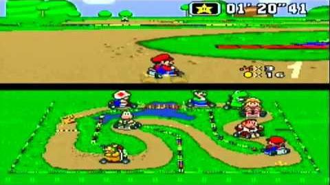 Super Mario Kart - Donut-Ebene 1 Donut Plains 1