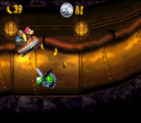 DKC3 Screenshot Kanalrohr-Terror