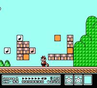 Super Mario Bros 3 World 1 Level 1 White Block