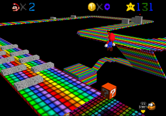nintendo 64 mario kart rainbow road
