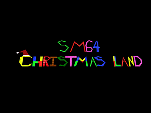 SM64 Christmas Land Title Screen
