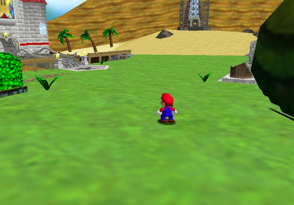 Castle Grounds | Super Mario 64 Hacks Wiki | FANDOM powered