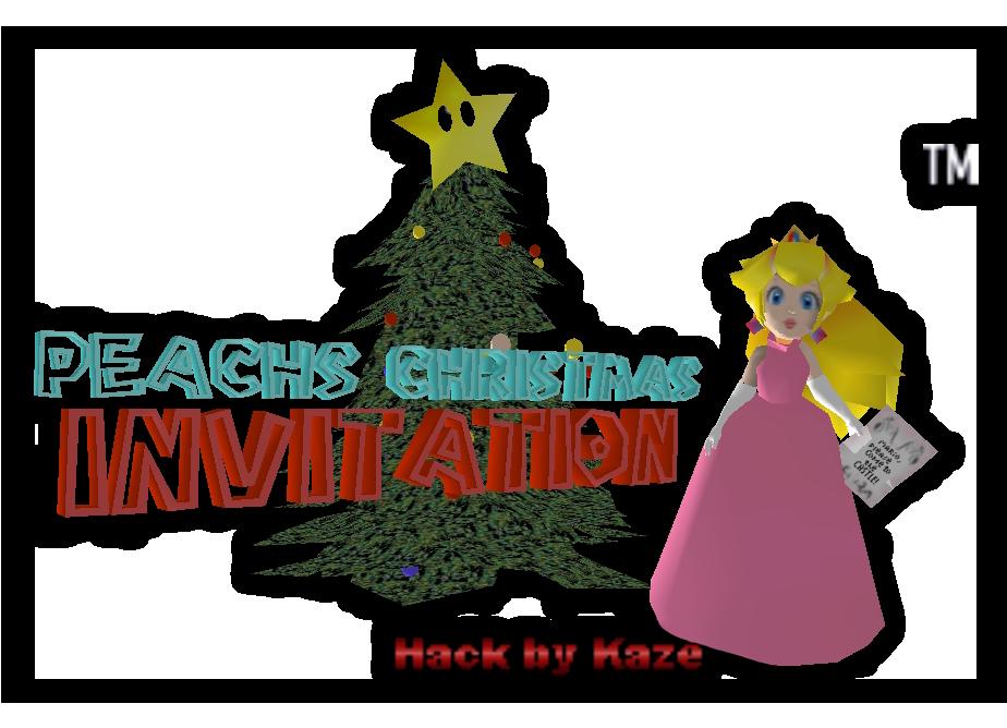 Christmas Mario Png.Peach S Christmas Invitation Super Mario 64 Hacks Wiki