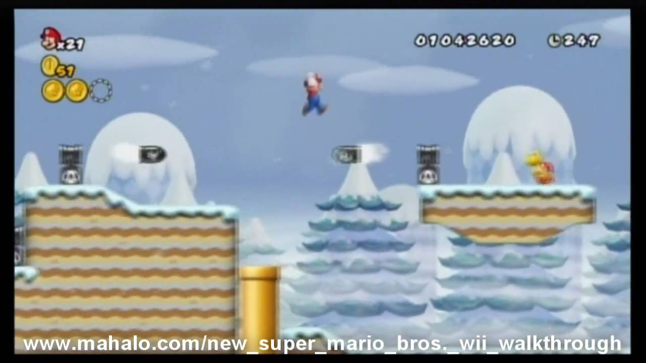World 3-2 (New Super Mario Bros  Wii) | Mario and sonic Wiki