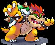 Mario luigi rpg style bowser ssb4 pose by master rainbow-dbrmcis