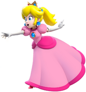 Princess Peach in Ponytail
