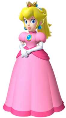 Princess Peach with a ponytail from Mario Kart series and Super Mario 64 DS