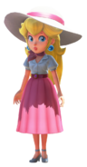 Peach in summer dress