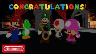 Super Mario Escape From Bowser Island Congratulations Luigi!